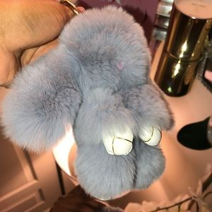 Super soft rabbit fur keychain
